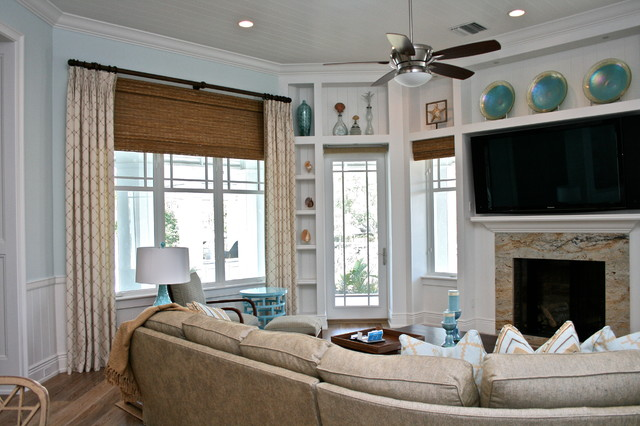 living room sofa fabric ideas pictures of decorated rooms seaside family - beach style tampa ...