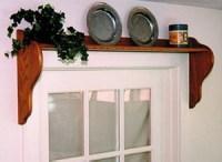 Wooden Window Shelf Curtain Rod