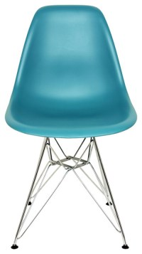 Mid, Century Molded Plastic Dining Chair Olive ...