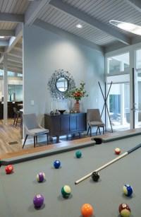Mid-Century Modern Pool Table Family Room