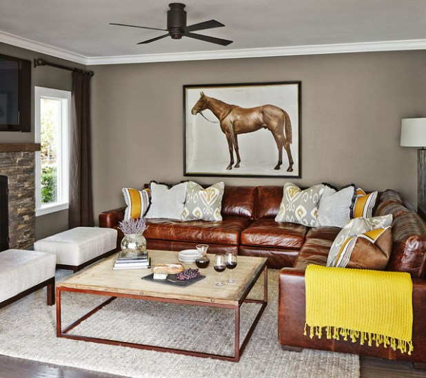 Living Room Ideas Leather Sectional Scandlecandlecom