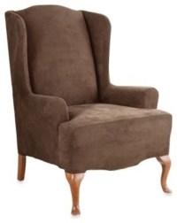 Stretch Suede with Invigo Fresh One-Piece Wing Chair ...