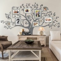 Rustic Living Room - Family Tree Wall Decor - Rustic ...
