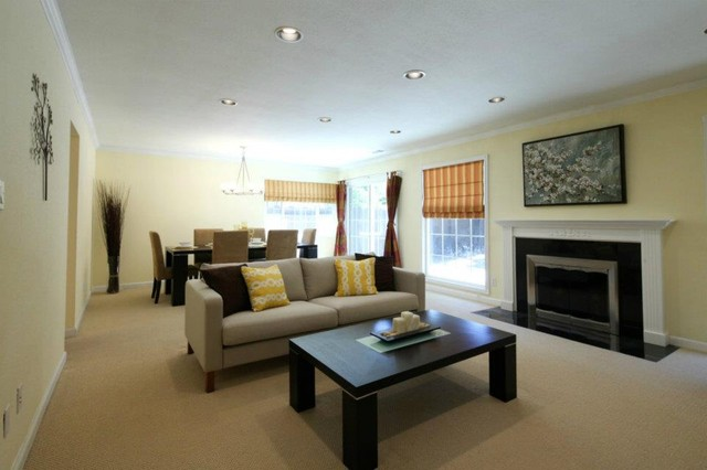 Open Floor Plan Connecting Formal Dining and Living Room  Contemporary  Living Room  San