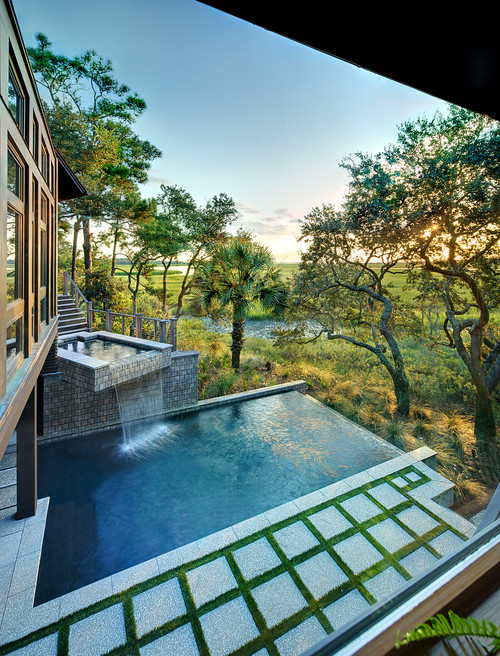 Contemporary Pool by Charleston Architects & Building Designers The  Anderson Studio of Architecture & Design