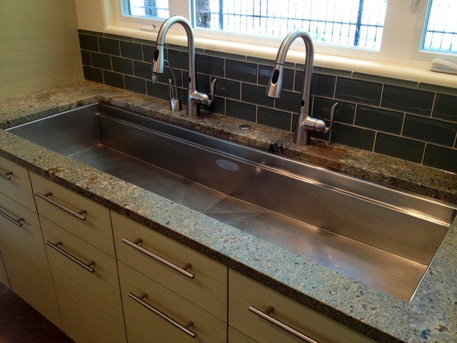 Long Kitchen Sink Contemporary Kitchen Boise By Strite Design Remodel