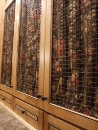 Cabinet door options showing oil rubbed bronze wire mesh ...