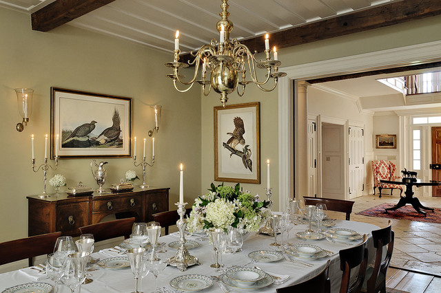 hanging kitchen shelves dash appliances horse country home - traditional dining room new york ...