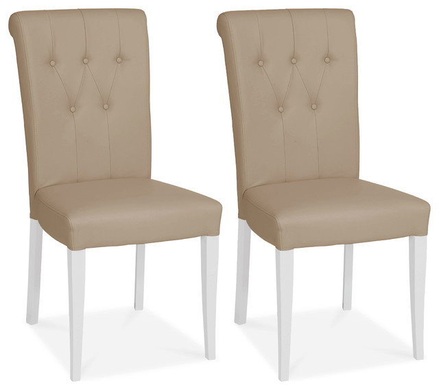 faux leather dining chairs antique swivel desk chair hertford roll back set of 2 transitional by houzz