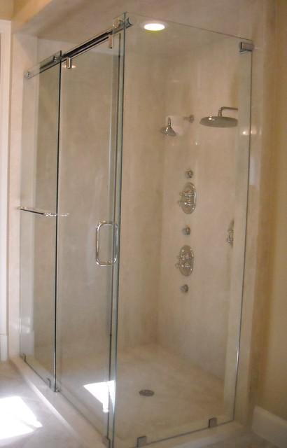 Frameless Hydroslide Shower Enclosure Contemporary Bathroom Houston By Shower Doors Of