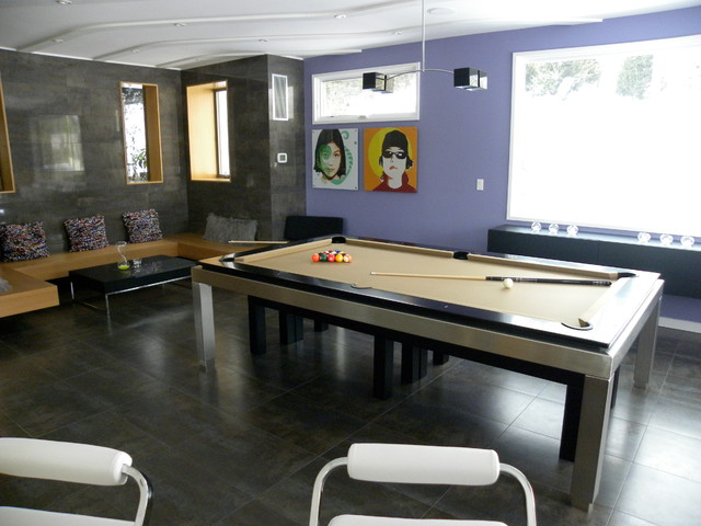 Basement Gamerooms Modern Basement Other Metro By