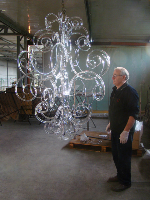 Assembling And Testing Modern Contemporary Murano Glass Chandelier Chandeliers
