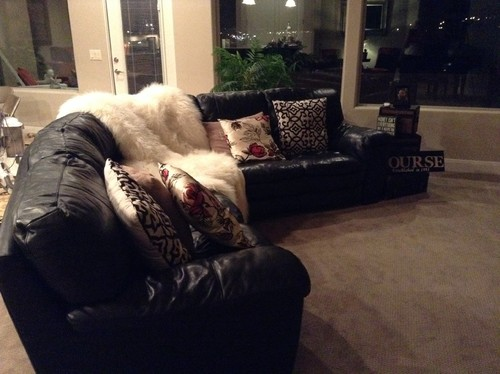 I Need Ideas For A Black Leather Couch