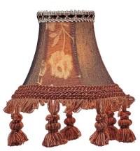 Livex Lighting Chandelier Shade Burgundy Floral Bell Clip ...