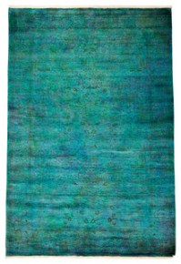Shop Houzz   Solo Rugs Modern Wool Area Rug, Teal, 6x9 ...