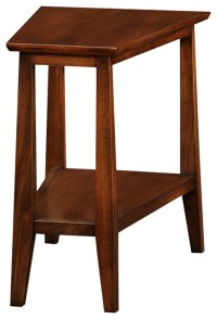 Sienna Recliner Wedge Table - Traditional - Side Tables ...