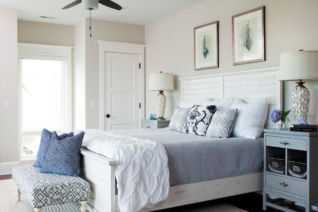 Figure 8 Island  Beach Style  Bedroom  wilmington  by Amy Tyndall Design