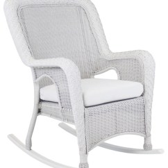 Key West Chairs Baby Chair Bathtub Rustic White Rocker Beach Style Outdoor Rocking By South Sea Living