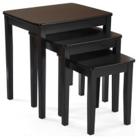 3 Piece Nesting End Table Set - Contemporary - Coffee ...