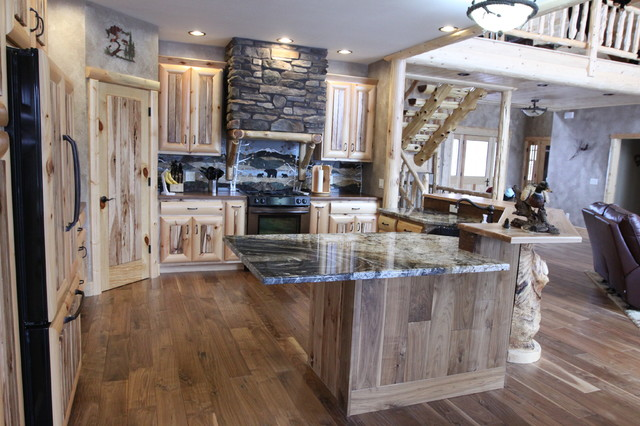 Warm Rich Rustic Home Rustic Kitchen Other Metro