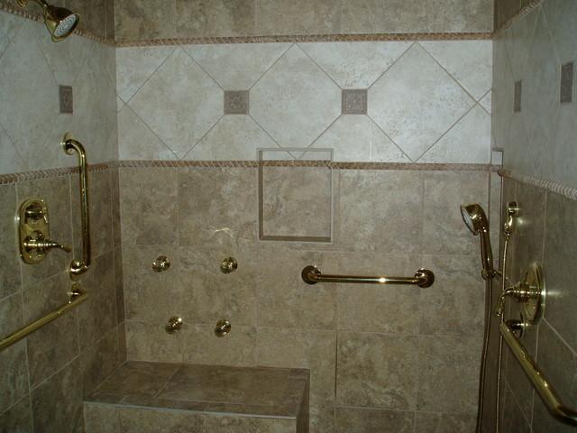 outdoor chair for elderly linen club slipcovers handicap shower - traditional bathroom nashville by dave's custom tile