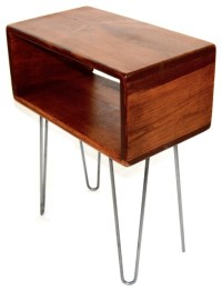 Midcentury Cube Side Table - Midcentury - Nightstands And ...