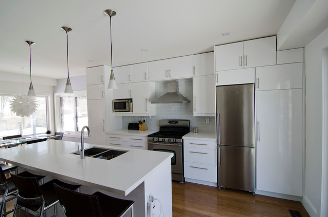 Ikea Abstrakt White Kitchen Modern Kitchen Toronto
