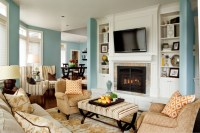 Basic, Sophisticated Hues - Traditional - Living Room ...