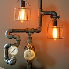 Howard Chairs For Sale Metal Garden Table Steampunk Gear Steam Gauge Lamp - Eclectic Minneapolis By Machine Age Lamps