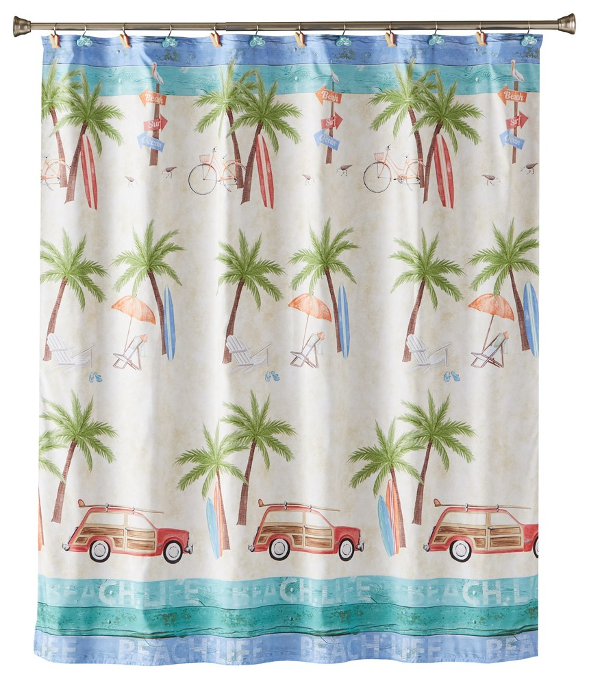 paradise beach shower curtain
