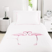 Flamingo Duvet Set, Single - Contemporary - Duvet Covers ...