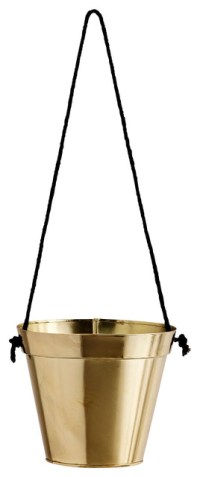 Gold Hanging Plant Pot - Contemporary - Indoor Pots ...