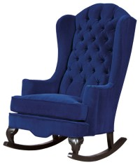 Fitzgerald Tufted Velvet Rocking Chair - Rocking Chairs ...