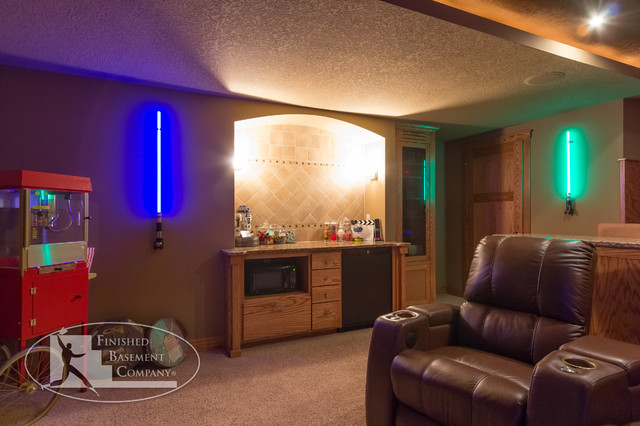 Basement Bar Concession Stand Traditional Basement