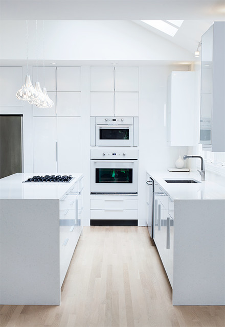 Ikea High Gloss White Kitchen By ModerNash Of Nashville