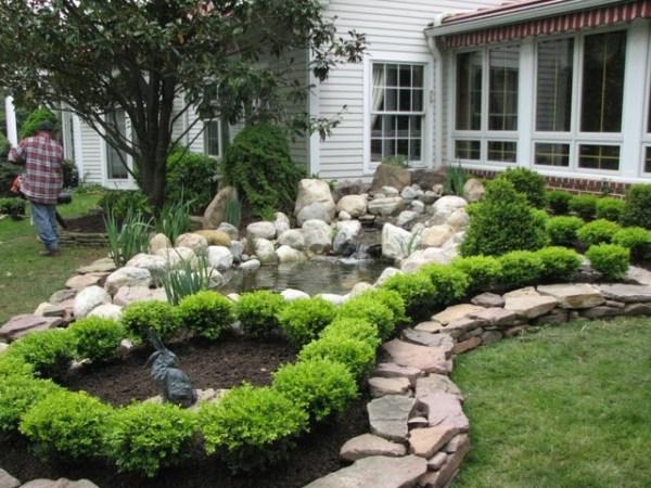 pond - retaining wall custom