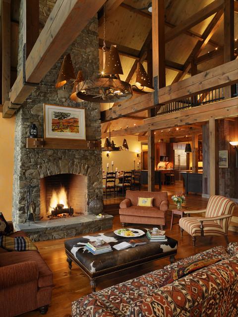 cowhide sofa throws urban living grandview farm - rustic room burlington by ...