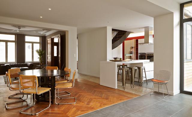 Rnovation dune maison bourgeoise  Valenciennes prs de Lille  clectique  Salle  Manger