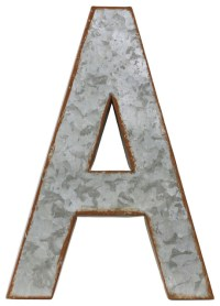 Metal Alphabet Wall Decor, Letter A - Industrial - Wall ...