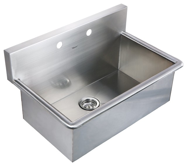 noah s collection brushed stainless steel commercial drop in laundry scrub sink