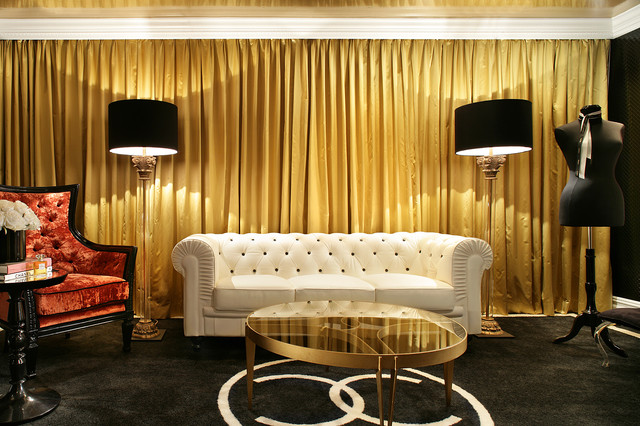 Coco Chanel Sitting Room Contemporary Living Room