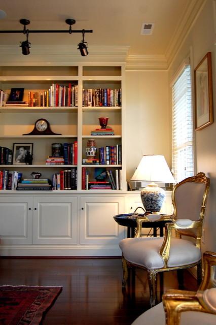 Custom builtin bookcase  Traditional  Living Room