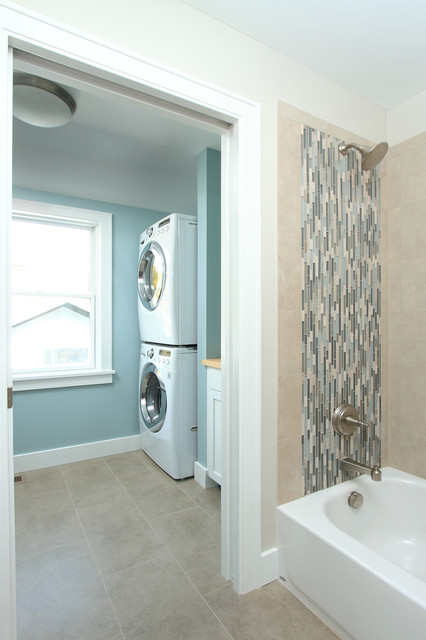 Hall bath and laundry  Traditional  Laundry Room  Minneapolis  by the gudhouse company