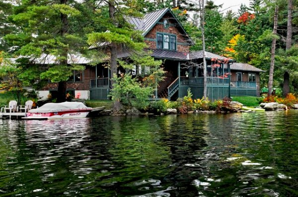 lake house - rustic exterior