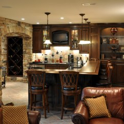Wine Rack In Living Room Corner Couch Small Custom Bar And Nook - Traditional Basement ...