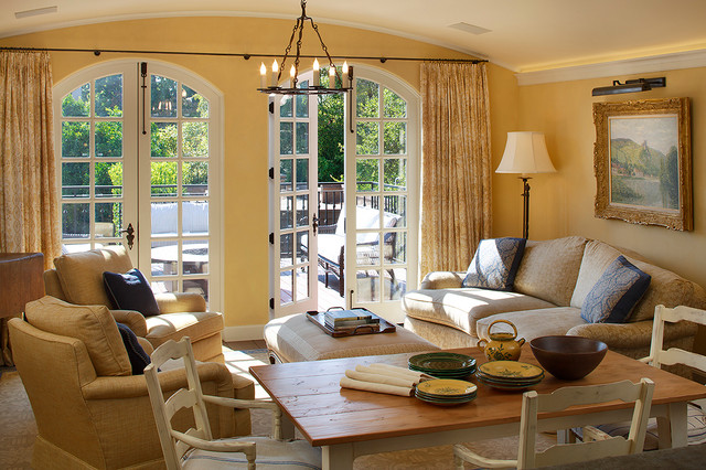 French Provincial Renovation Traditional Family Room San