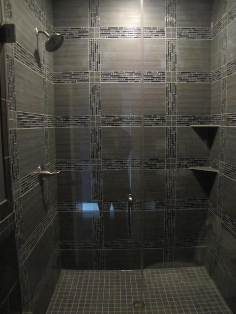 Glass Tile Shower  Contemporary  Tile  Chicago  by
