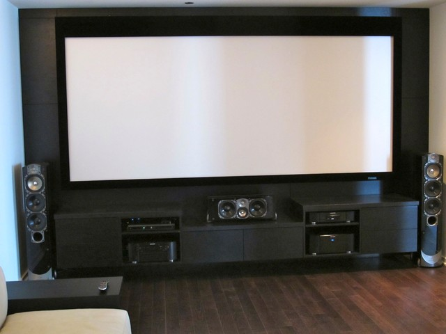Custom Media Room  Entertainment Center with Greenfield