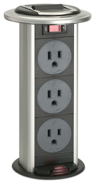 kitchen power grommet where can i buy a table contemporary switches and outlets by satin aluminum trim ring