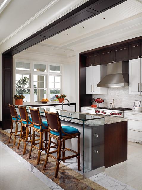 Florida Beachfront Residence Vero Beach USA Tropical Kitchen